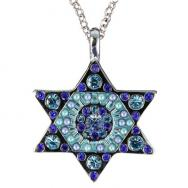 Star of David Necklace - Blue NST-2