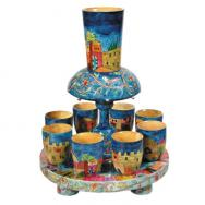 Wooden Kiddush Fountain - Jerusalem FN-1