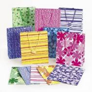 Mega Colorful Print Gift Bags by Fun Express