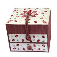 Embroidered Jewelry Box - Pomegranates BE-1