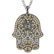 Large Hamsa Necklace - Gold NHL-4