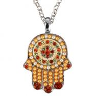 Small Hamsa Necklace - Gold NHS-4