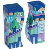 Salt and Pepper Shaker - Jerusalem Blue SA-8
