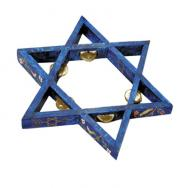 Star of David Tambourine - Painted SDP